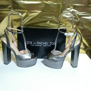 Rachel Zoe Metallic platforms